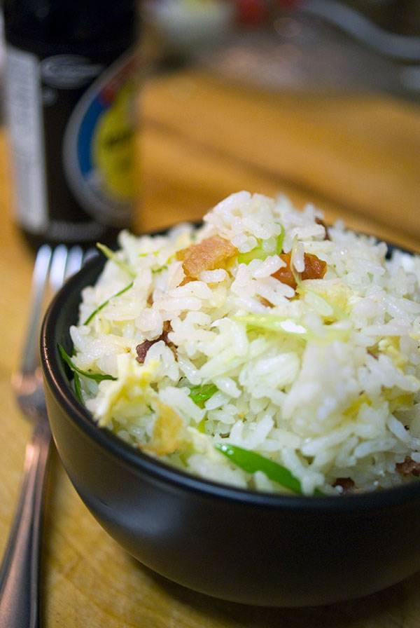Bacon Fried Rice. Because fried rice is good, but it's so much better with bacon!