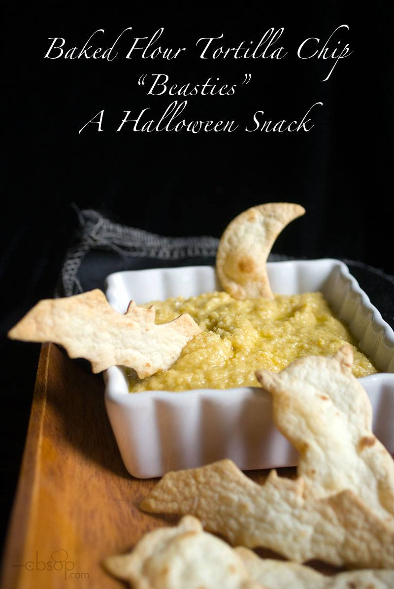 Beastie Shaped Baked Flour Tortilla Chips – A Spooky Halloween Snack