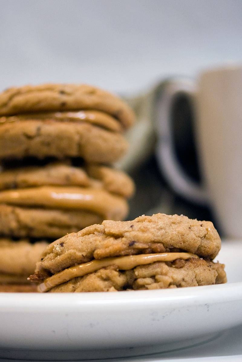 Peanut Butter Cup Sandwich Cookies Recipe #WillWriteForCookies #NaNoWriMo