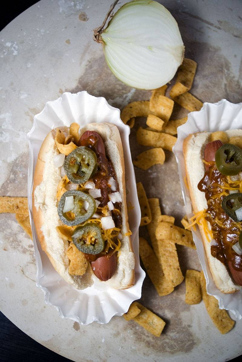 Frito pie hot dogs