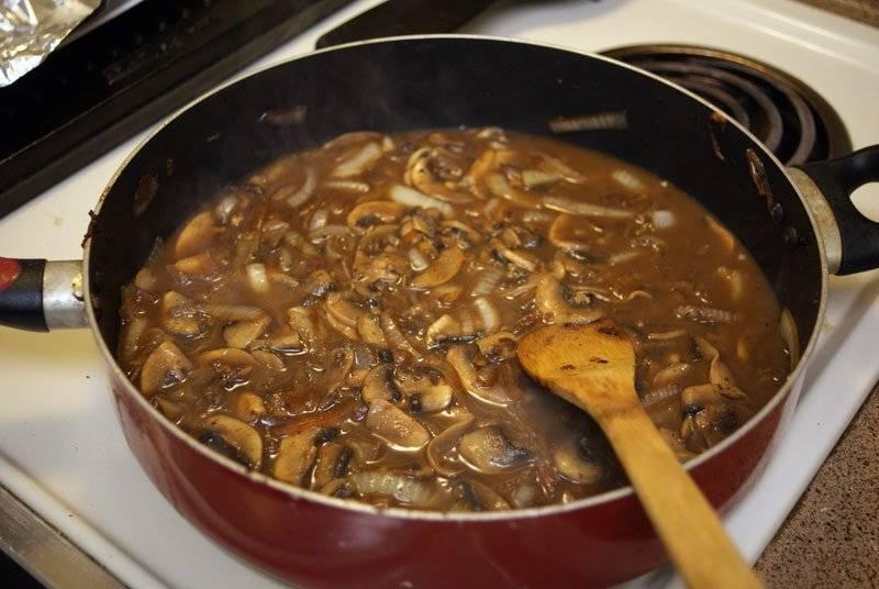 Yummy mushroom gravy