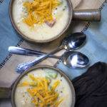 Quick & Easy Cheesy Potato Soup with Ham & Broccoli