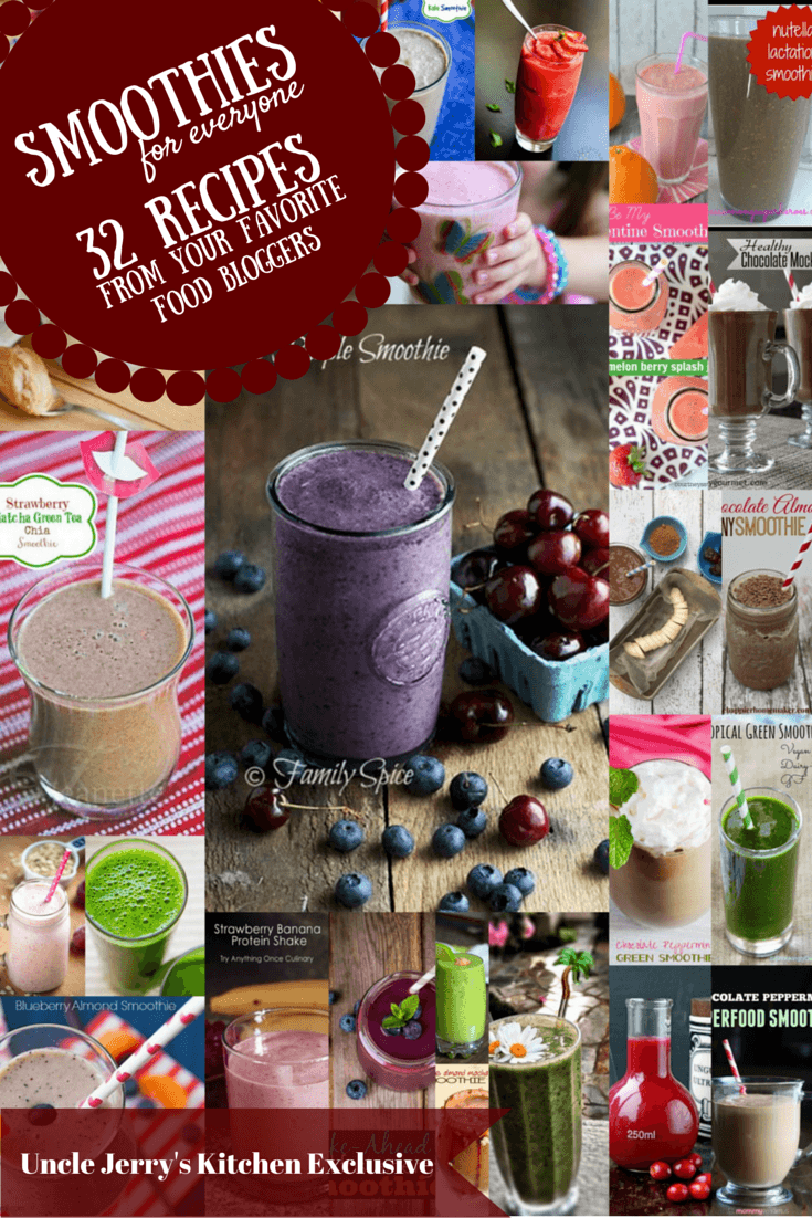 Smoothies for Everyone – 32 Smoothie Recipes From Your Favorite Food Bloggers
