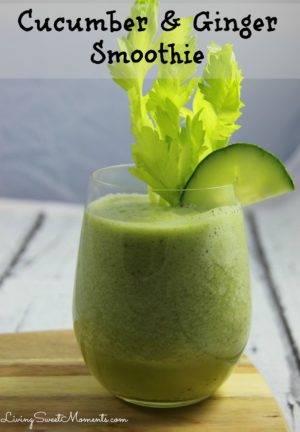 Cucumber Celery Ginger Smoothie