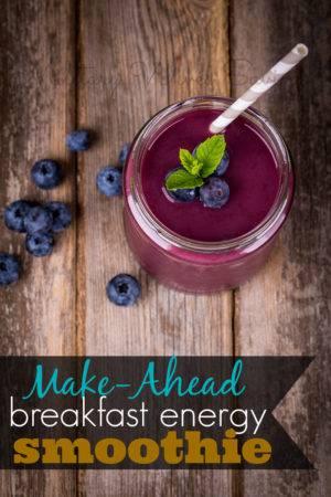 Make Ahead Breakfast Energy Smoothie
