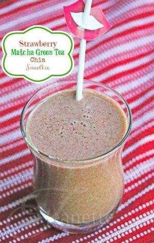 Strawberry Macha Green Tea Smoothie