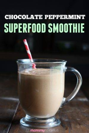 Chocolate Peppermint Superfood Smoothie