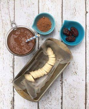 Vegan Banana Chocolate Smoothie