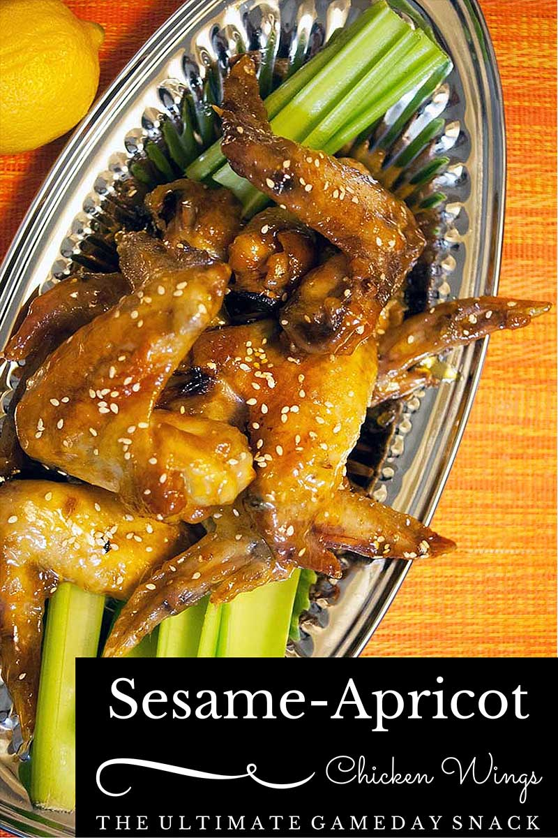 Sesame Apricot Chicken Wings