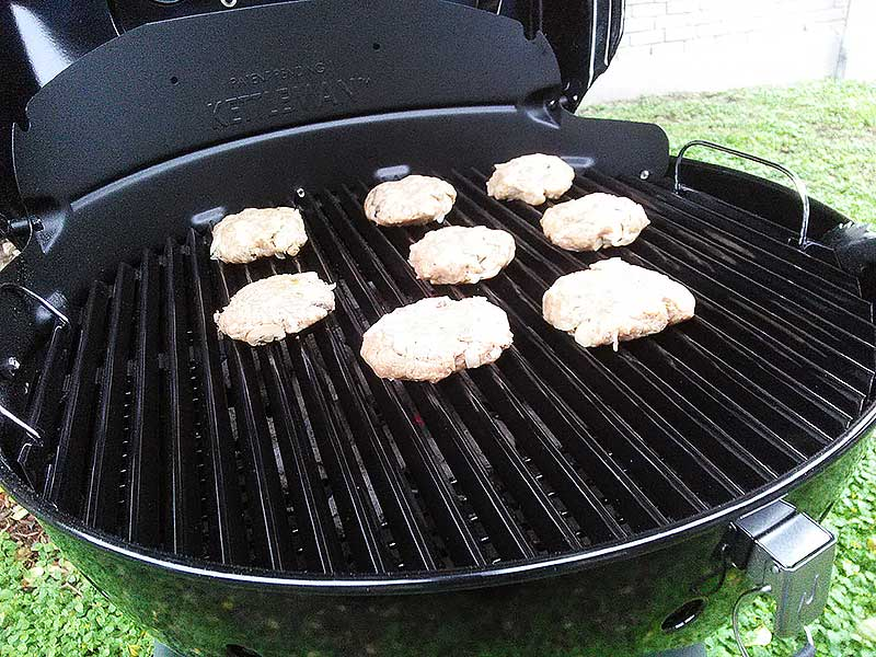 Grilled Turkey Burgers on the grill