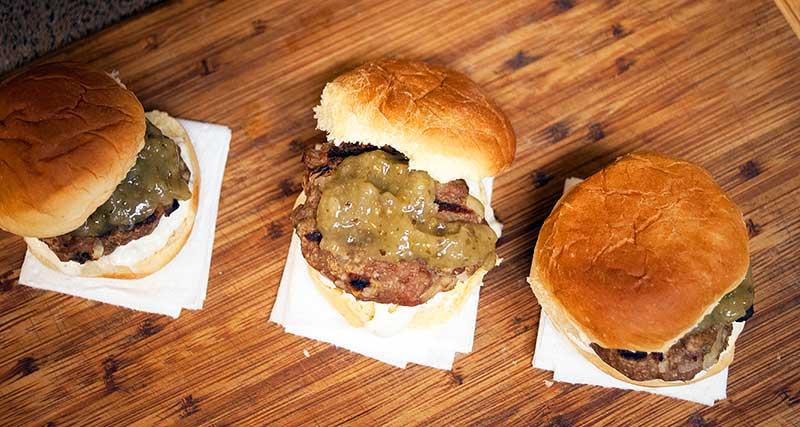 Grilled Turkey Burgers with Garlic Mayo & Recaito