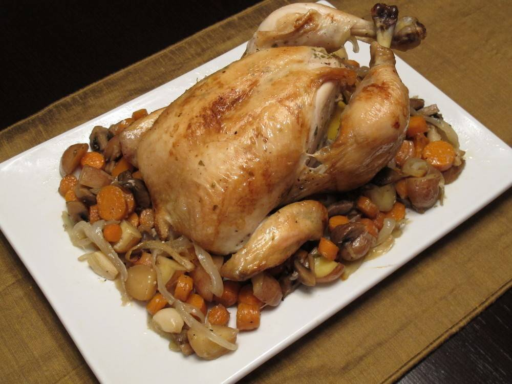 French Roasted Chicken - 100 easy chicken recipes