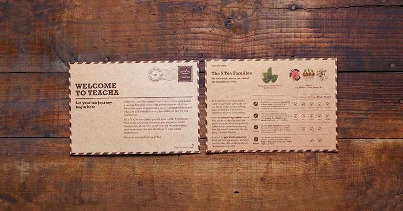 TeaCha Tea Information Cards