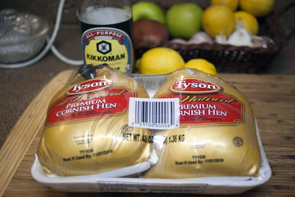 Tyson Premium Cornish Hens for Grilled Cornish Hens Glazed in Soy, Honey and Lemon #JuicyGrilledCornish #Ad