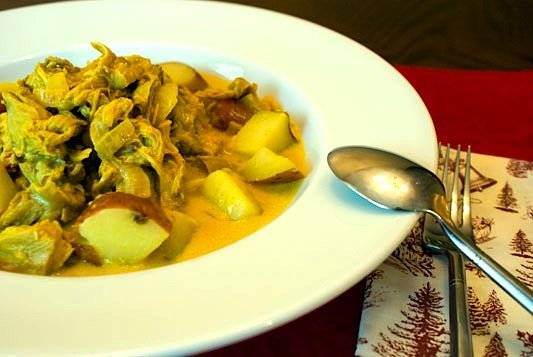 Leftover Turkey and Potato Curry - A sublime and warming twist on holiday leftovers