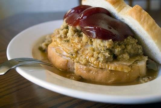 The Pilgrim Sandwich. - A Classic leftover turkey recipe.