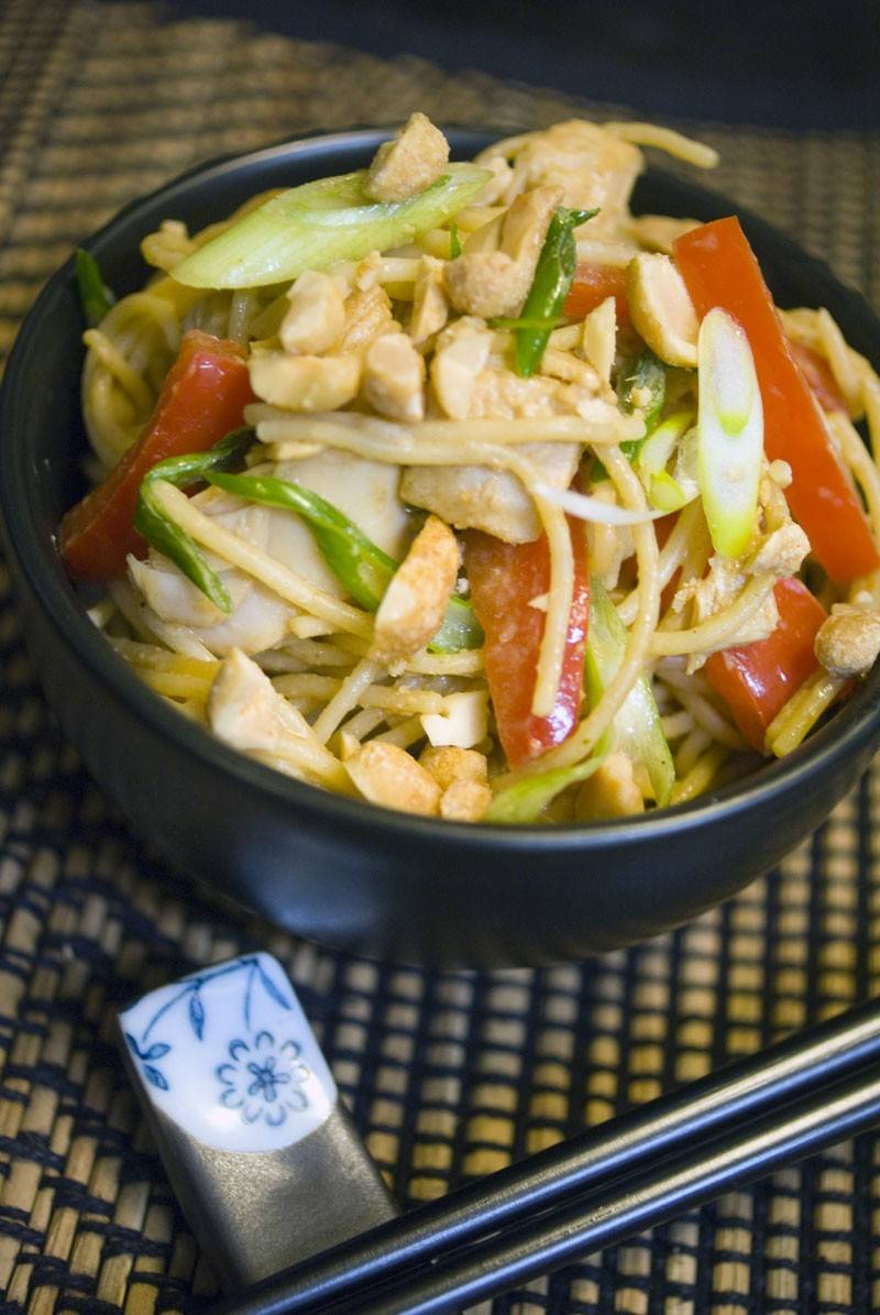 Thai Peanut Leftover Turkey and Noodles - A surprisingly savory take on leftover turkey