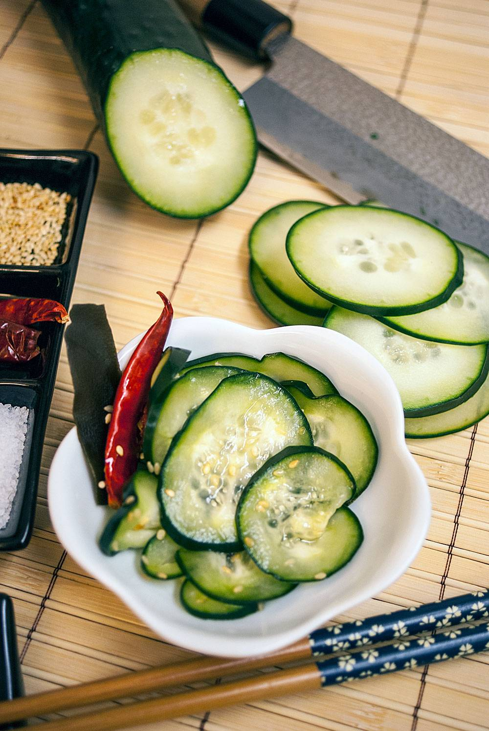 Tsukemono perfect as a palate cleanser or a snack with drinks. (And they're also pretty freaking awesome on a burger.)