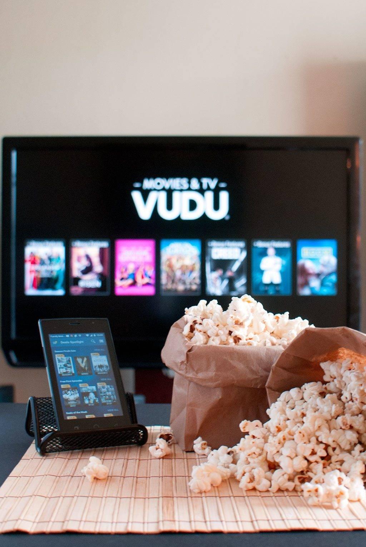 Microwave popcorn and movie night