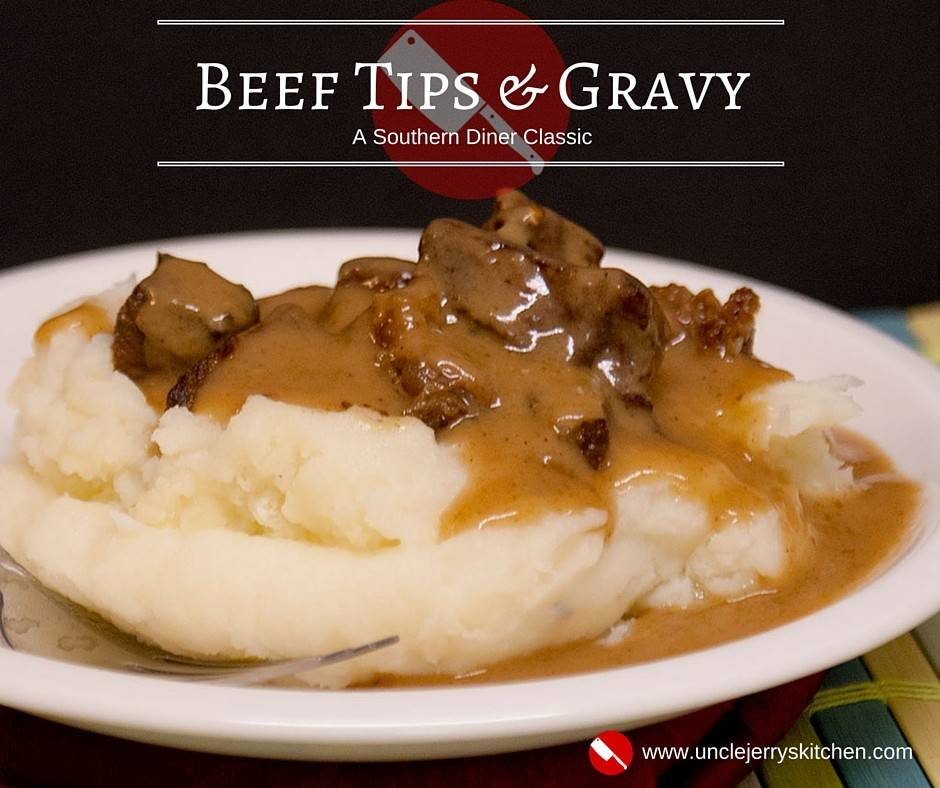 Beef Tips & Gravy. A Southern diner classic that's just waiting to be dished up on your table