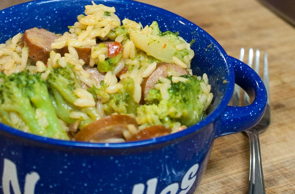 Cheesy Rice with Smoked Sausage & Broccoli – Cook With Your Family
