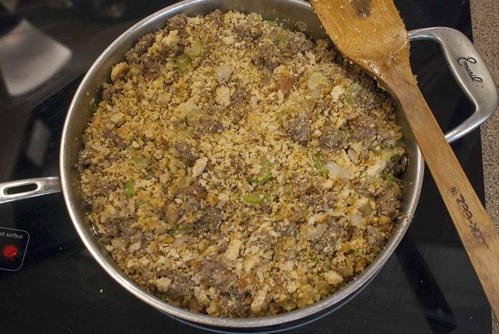 Nothing screams Southern cooking like Sausage Dressing. (Or Sausage Stuffing, if you like.) It's the perfect side for Turkey, Pork, chicken, or just on it's own. Add some gravy and you're golden!