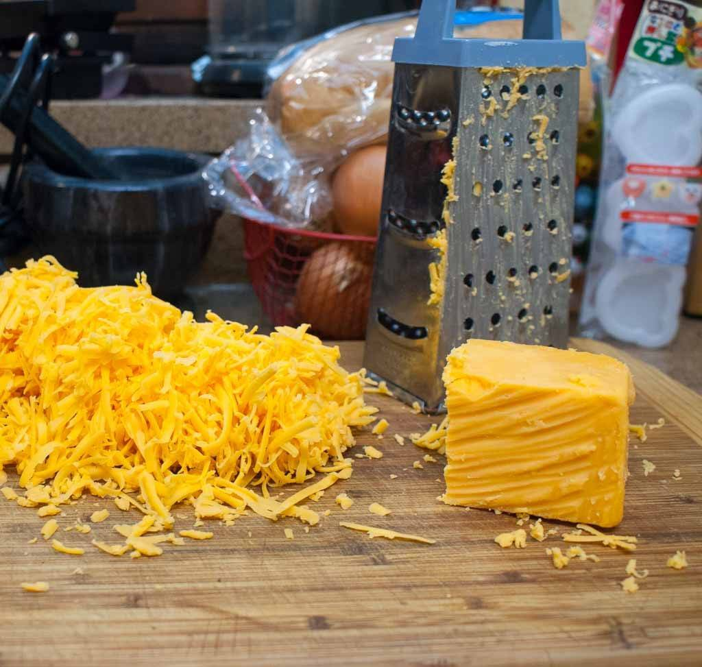 grated cheese for sausage cheese balls