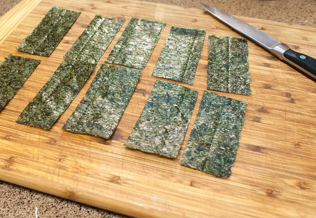 sushi nori cut in strips