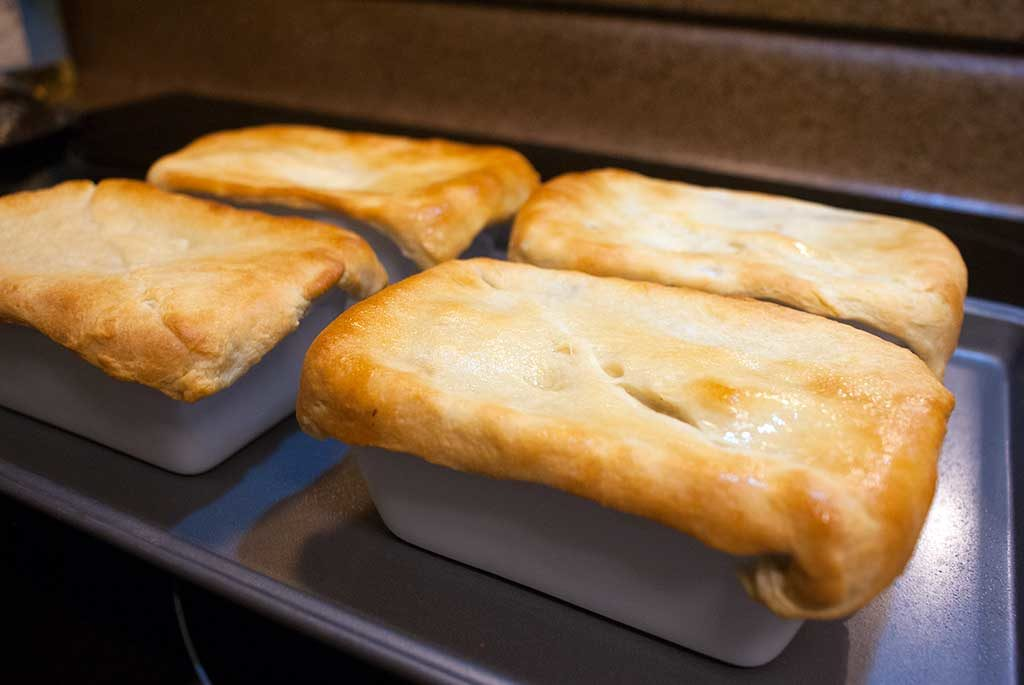 Fully cooked leftover Turkey pot Pies