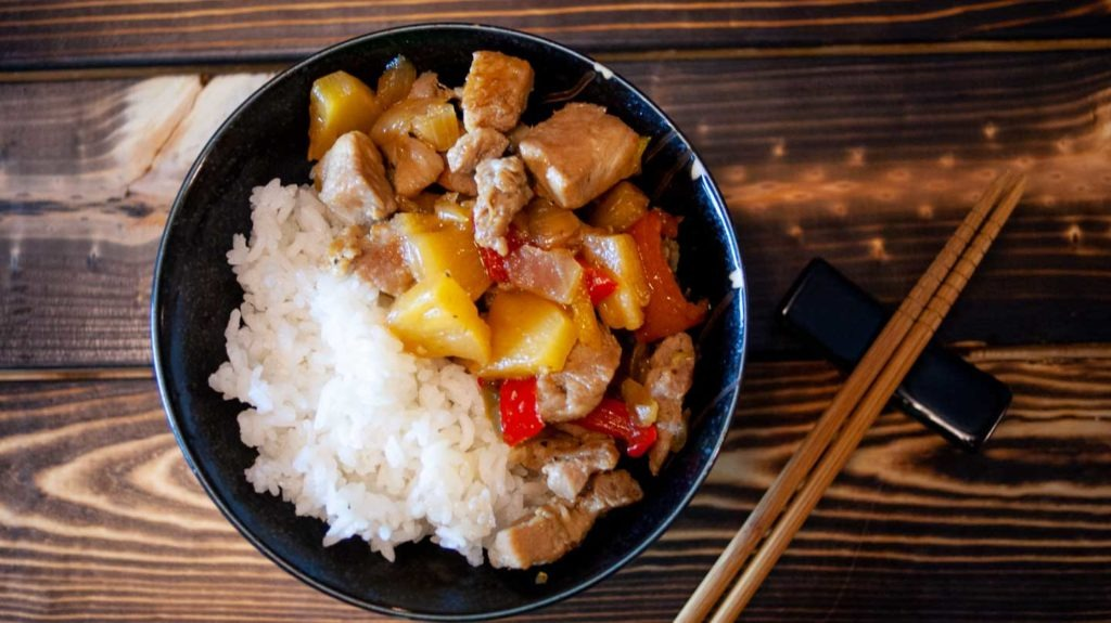 Pork and Pineapple rice bowl