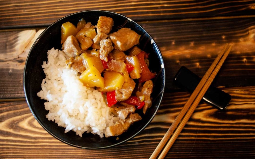 Pork and Pineapple Rice Bowls, a fast & delicious meal for any day of the week.