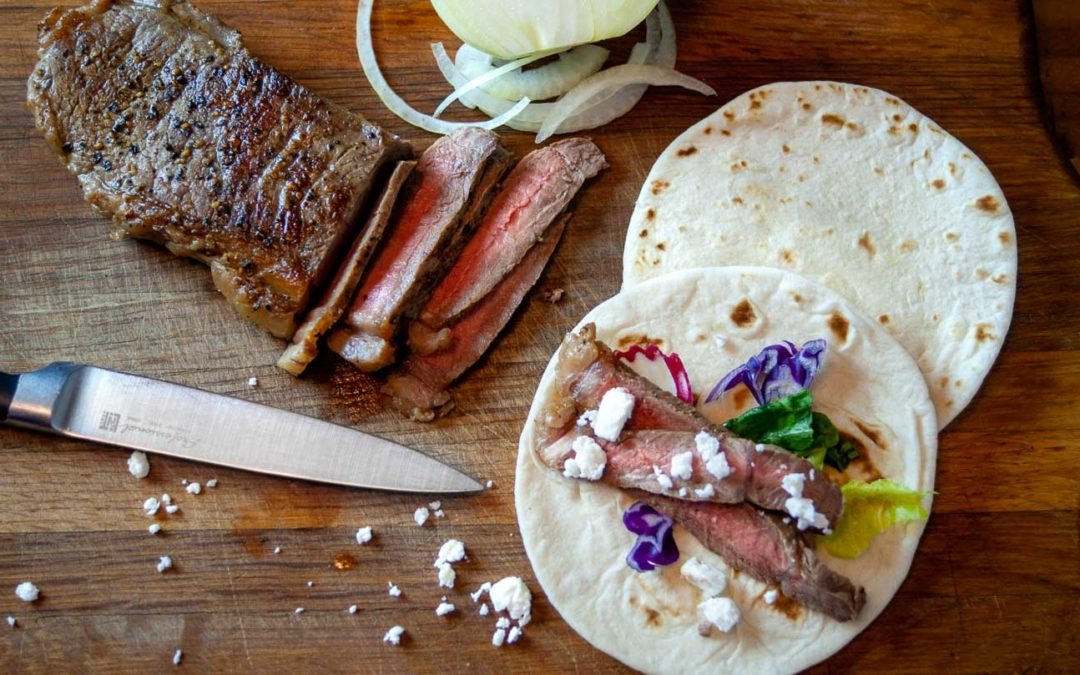 Steak Tacos with Feta Cheese  – A fast, simple, delicious, weeknight dinner