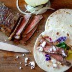 steak and feta street tacos