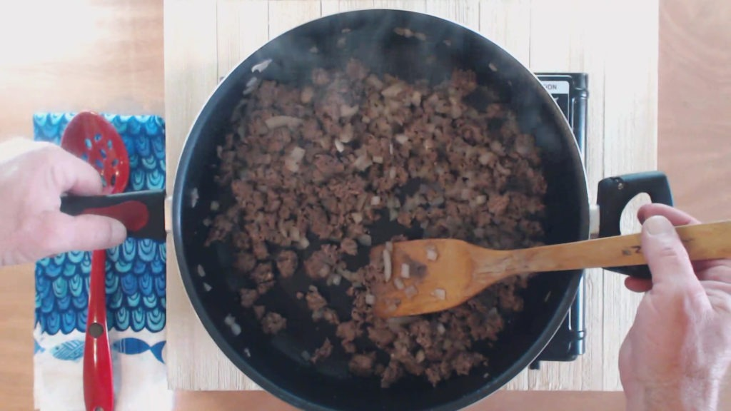 Brown and drain beef