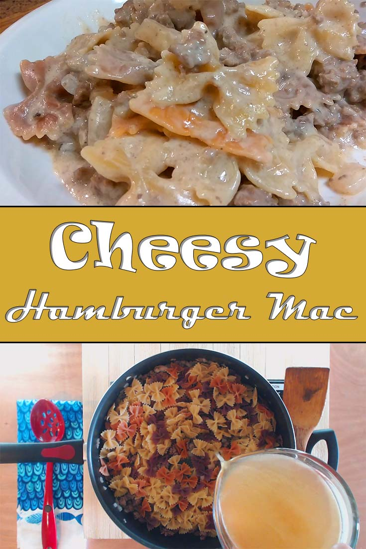 All the richness of homemade mac and cheese, but ready in under 30 minutes. Cheesy hamburger mac is the perfect back to school meal. Picky eater approved!  #macandcheese #cheesymac #weeknightdinner #quickandsimple