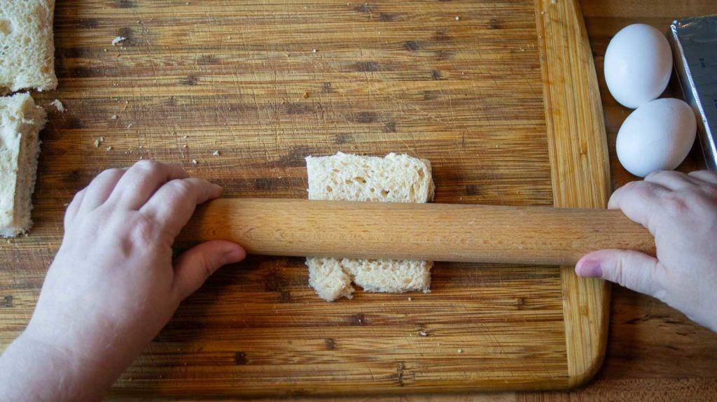Rolling sliced bread flat