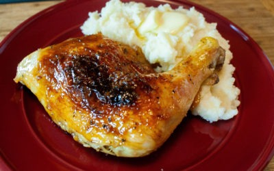 Easy Plum Glazed Chicken Leg Quarters, Simply Delicious