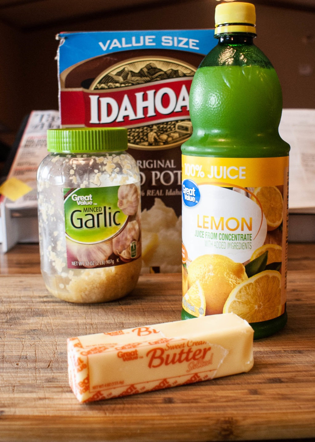 Ingredients for Lemon Garlic Mashed Potatoes