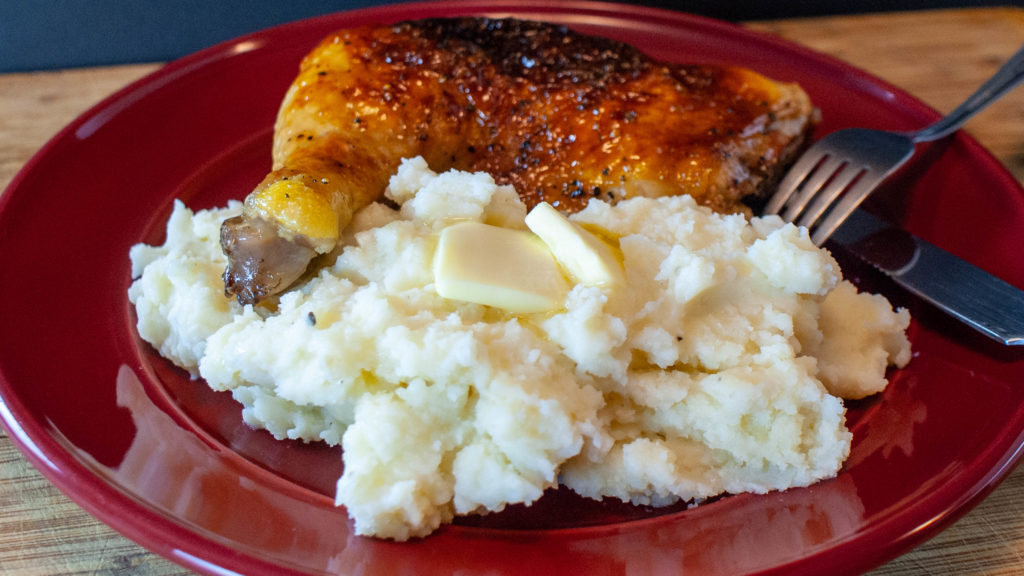 Lemon Garlic Mashed Potatoes