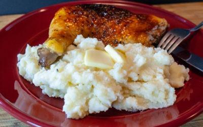 Lemon Garlic Mashed Potatoes