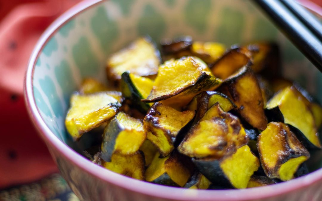 Air Fryer Roasted Acorn Squash with Honey (Oven Method included)