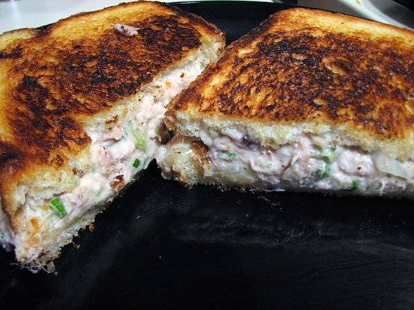 Basil Provolone Tuna Melt Recipe