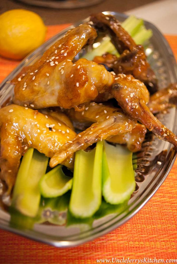 Sesame Apricot Chicken Wings - Game Day Goodness