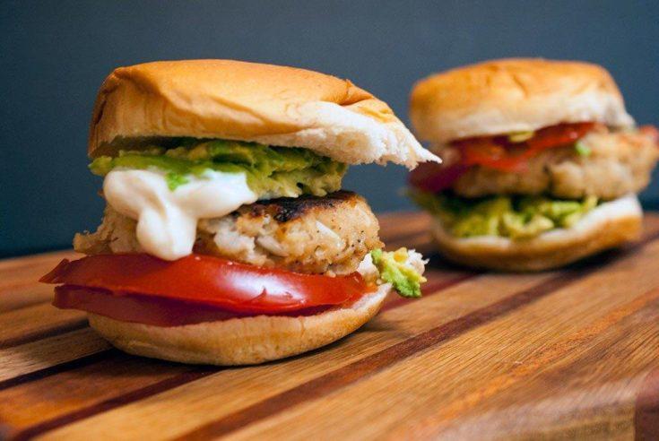 Tuna Burgers with Sesame Mayo and Avocado