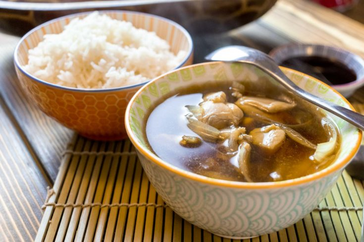Simmered chicken and Onions - Japanese nimono style chicken